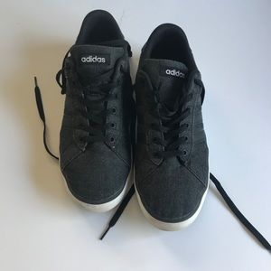 Adidas black on black sneakers, walking/ running